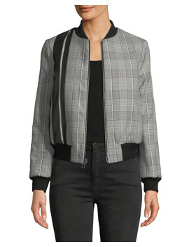 Lonnie Reversible Cropped Bomber Jacket by Alice + Olivia