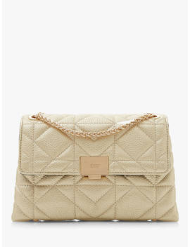 Dune Evangelina Quilted Clutch Bag, Gold by Dune