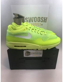 Nike Air Max 1 Ultra Flyknit Volt Mens Running Shoes Sneakers 843384 701 Size 15 by Nike