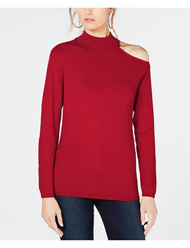 I.N.C. One Shoulder Mock Turtleneck Sweater, Created For Macy's by Inc International Concepts