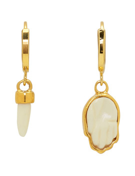 Gold Horn & Hand Earrings by Isabel Marant