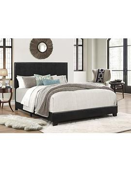 Crown Mark Upholstered Panel Bed In Gray, With Nailhead, Queen by Crown Mark
