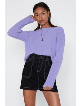 Had Knit Up To Here Sweater by Nasty Gal