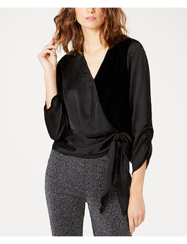I.N.C. Velvet Wrap Top, Created For Macy's by Inc International Concepts