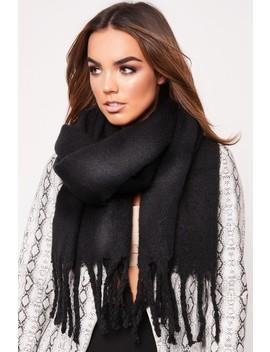 Aria Black Knitted Scarf by Misspap