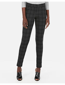 Mid Rise Skinny Knit Twill Pants by Express