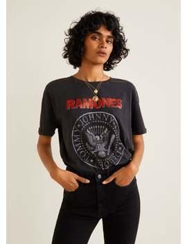 Ramones T Shirt by Mango