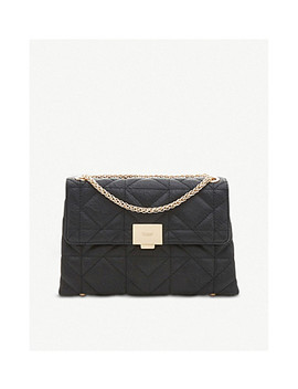 Evangelina Faux Leather Quilted Shoulder Bag by Dune