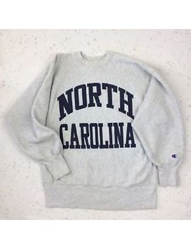 Vtg Champion Size L North Carolina Reverse Weave Crewneck Sweatshirt 90s Unc Usa by Champion