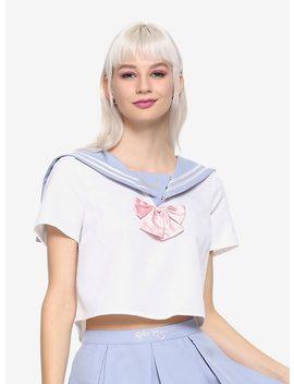 Sailor Moon School Uniform Girls Crop Top Hot Topic Exclusive by Hot Topic