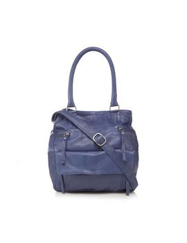 Day And Mood   Navy Leather 'hannah' Grab Bag by Day And Mood