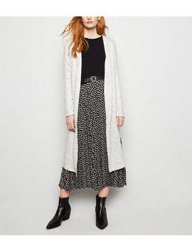 Pale Grey Fine Knit Longline Cardigan by New Look