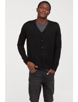 Knitted Merino Blend Cardigan by H&M