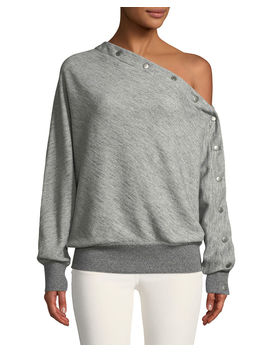 Kate One Shoulder Snap Up Pullover Top by Rag & Bone