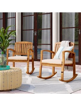 Beachcrest Home Coyne Acacia Rocking Chair & Reviews by Beachcrest Home