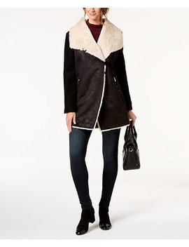 Faux Fur Lined Coat by Calvin Klein
