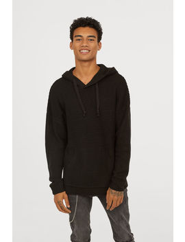 Textured Knit Hooded Jumper by H&M