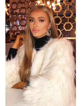 White Faux Fur Coat   Livy by Rebellious Fashion