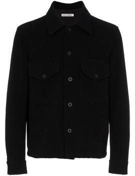 Button Up Wool Shirt Jacket by Our Legacy