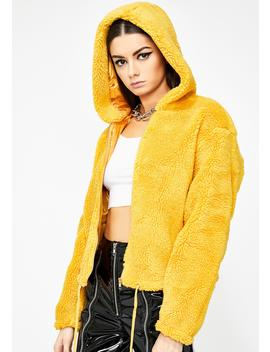 Honey The Finer Thingz Fuzzy Jacket by Sans Souci Clothing
