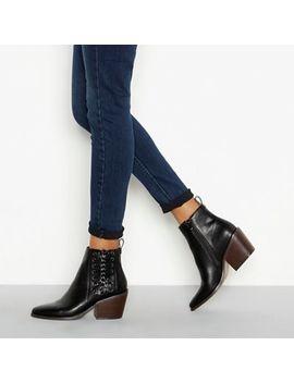Nine By Savannah Miller   Black 'soven' Block Heel Ankle Boots by Nine By Savannah Miller