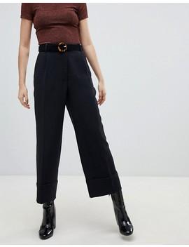 Monki   Pantaloni Cropped Sartoriali Neri by Asos