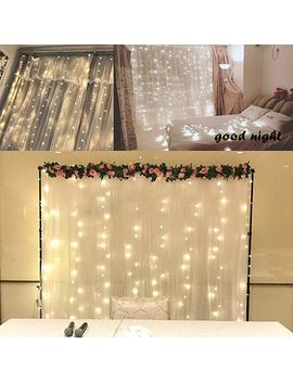 Ever Smart Curtain Lights, Usb Powered 300 Le Ds Warm White String Lights For Bedroom, 9.8x9.8 Ft Waterproof & 8 Modes Fairy String Lights by Ever Smart