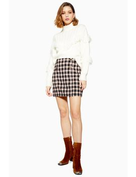Check Boucle Mini Skirt by Topshop