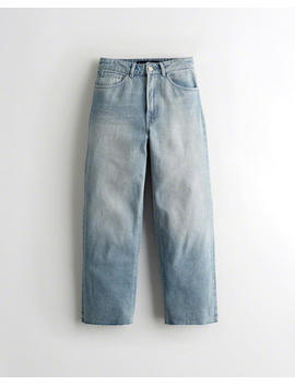 Ultra High Rise Denim Culottes by Hollister