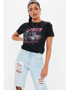 Black La Noir Graphic T Shirt by Missguided