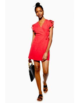 Ruffle Wrap Dress With Linen by Topshop