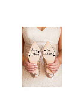 Wedding Shoe Decal  || Bride To Be Bridal Shoe Sticker by Etsy