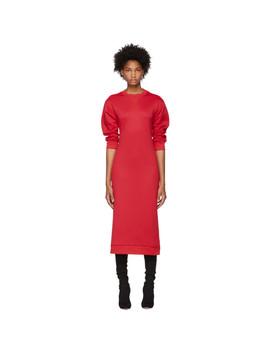 Red Open Back Sweatshirt Dress by Tibi