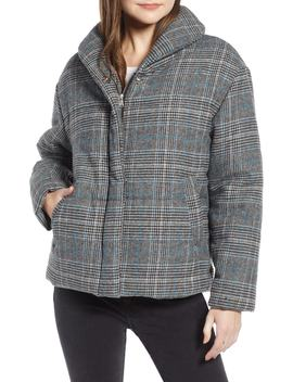 Plaid Puffer Jacket by Something Navy