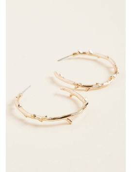 What's The Sprig Idea? Hoop Earrings by Modcloth