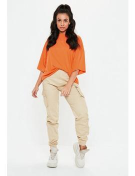 Orange Oversized Drop Shoulder T Shirt by Missguided