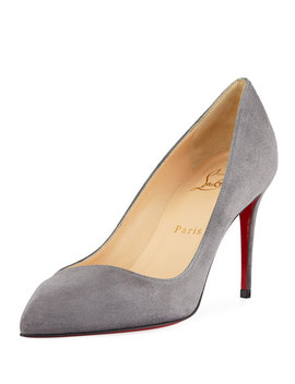 Corneille Suede Red Sole Pumps by Christian Louboutin