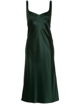 атласное платье с многослойным дизайном by Dion Lee