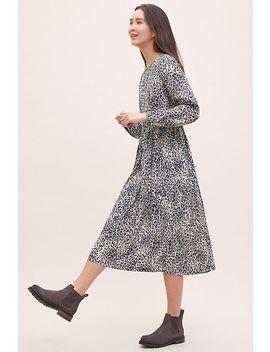 Kachel Leopard Print Midi Dress by Kachel