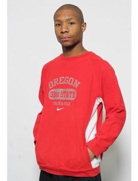 Vintage Nike Oregon Logo Sweatshirt Red by Nike