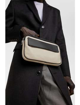 Creamy White Leather Belt Bag  Belt And Crossbody Bags Bags Man by Zara