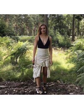 Jacquemus Fan Cream High Waisted Skirt Size 10 by Ebay Seller