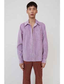 Corduroy Shirt Lilac Purple by Acne Studios