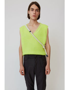 Sweater Vest Fluo Yellow by Acne Studios