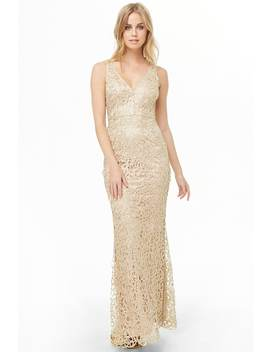 Beaded Overlay Maxi Dress by Forever 21