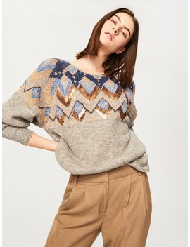 Sweater With Jacquard Pattern by Reserved