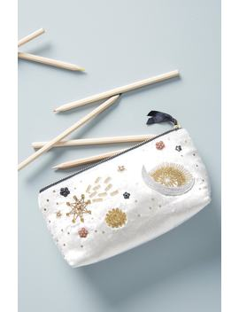 Claire Embellished Pencil Pouch by Anthropologie