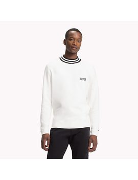 Relaxed Fit Stripe Neck Jumper by Tommy Hilfiger