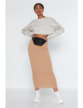 To The Maxi Ribbed Skirt by Nasty Gal