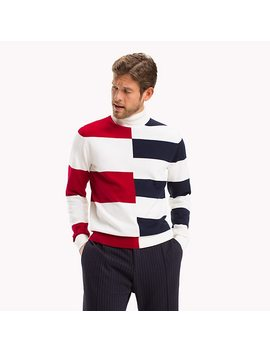 Pure Wool Rugby Stripe Jumper by Tommy Hilfiger
